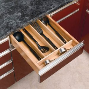 Rev-A-Shelf Wood Utensil Organizer for Drawers Small