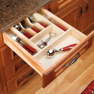Rev-A-Shelf Wood Cutlery Organizer for Drawers Small