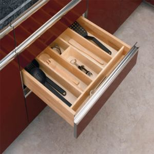 Rev-A-Shelf Wood Utensil Organizer for Drawers Large