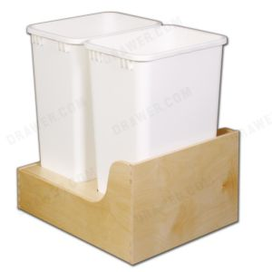 "Birch Ply Undermount Recycle Drawer Fits 18"" opening"