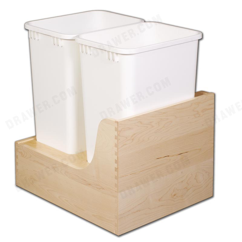 Hard Maple Undermount Recycle Drawer Fits 18
