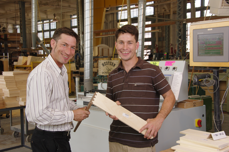 Max Hunter with Josh Hunter at Western Dovetail, Inc.