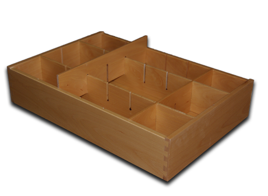 drawer with half lap dividers